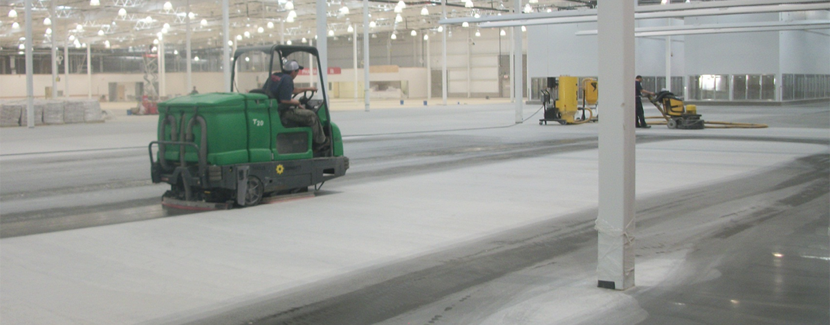 Grinding Process (Cleaning Floor Between Each Pass)